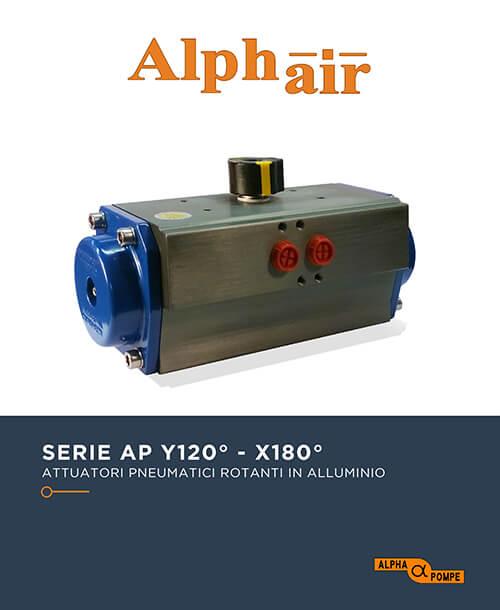 Alpha Pompe | Catalogo attuatori pneumatici serie AP 120° - 180°