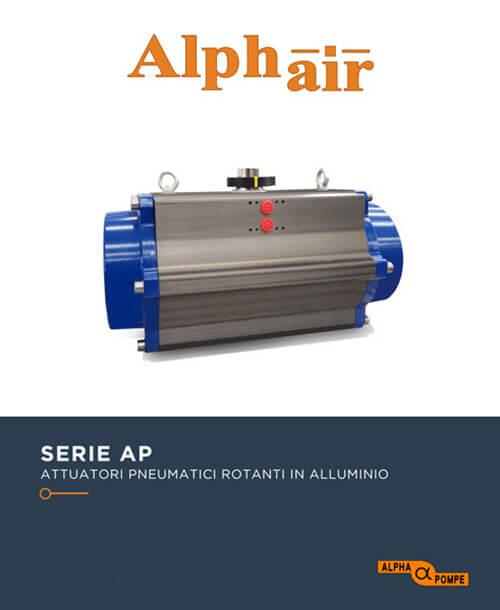 Alpha Pompe | Catalogo attuatori pneumatici serie AP in alluminio