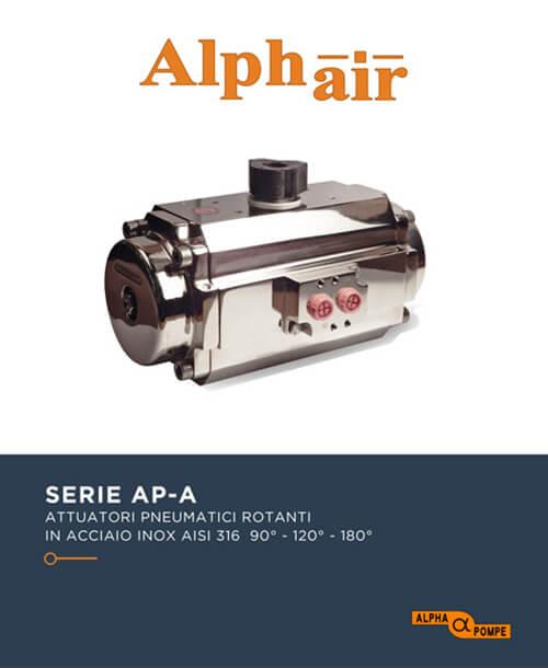 Alpha Pompe | Catalogo attuatori pneumatici Serie AP-A in acciaio inox