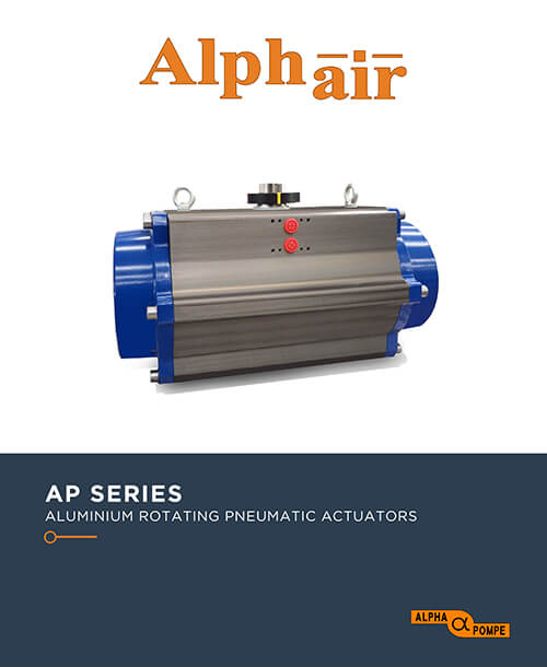 Alpha Pompe | Catalogue Aluminium rotating pneumatic actuators AP SERIES
