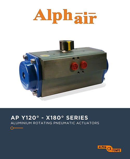 Alpha Pompe | Catalogue Aluminium rotating pneumatic actuators AP 120°-180° SERIES