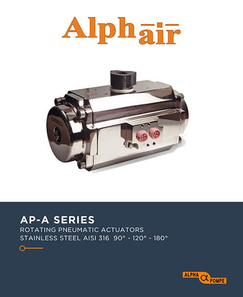 Alpha Pompe | Catalogue rotating pneumatic actuators - stainless steel AP-A SERIES