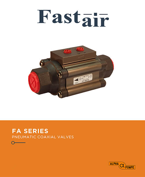 Alpha Pompe | Catalogue Aluminium pneumatic coaxial valves FA SERIES